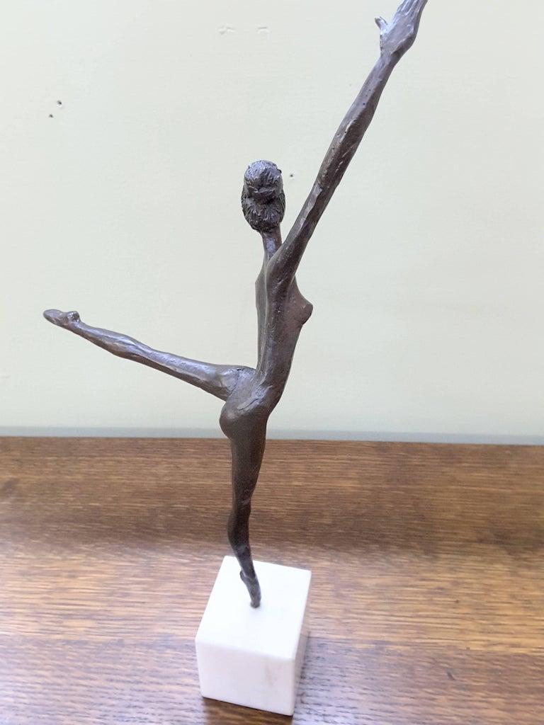 Canadian Bronze Ballerina on Marble Base Almuth Lutkenhaus For Sale