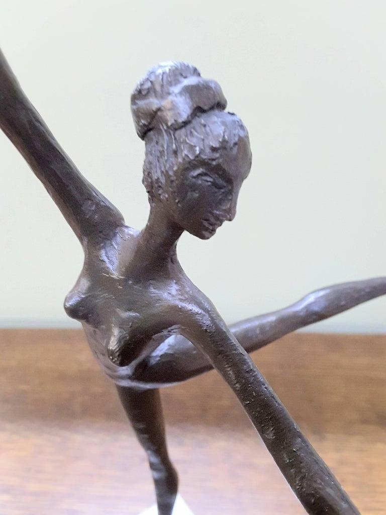 20th Century Bronze Ballerina on Marble Base Almuth Lutkenhaus For Sale