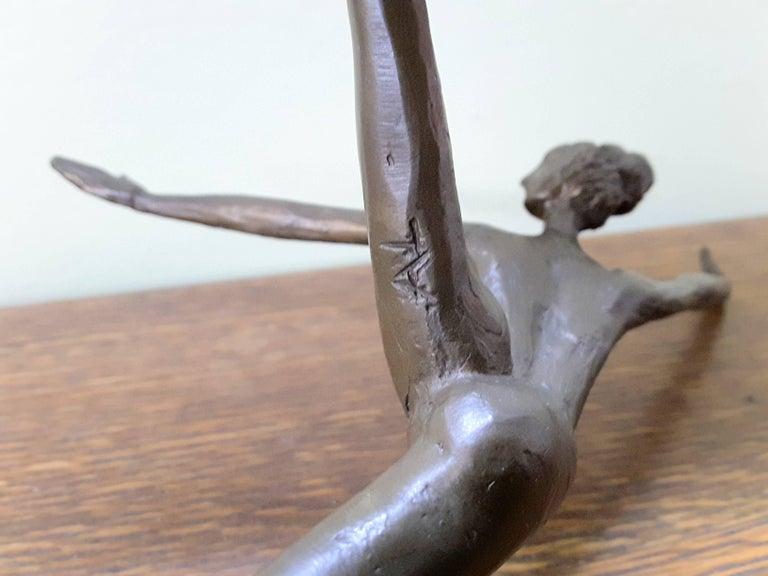 Bronze Ballerina on Marble Base Almuth Lutkenhaus For Sale 1