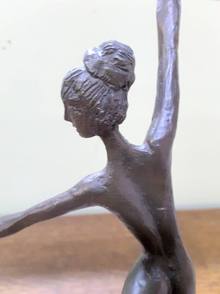 Bronze Ballerina on Marble Base Almuth Lutkenhaus For Sale 3