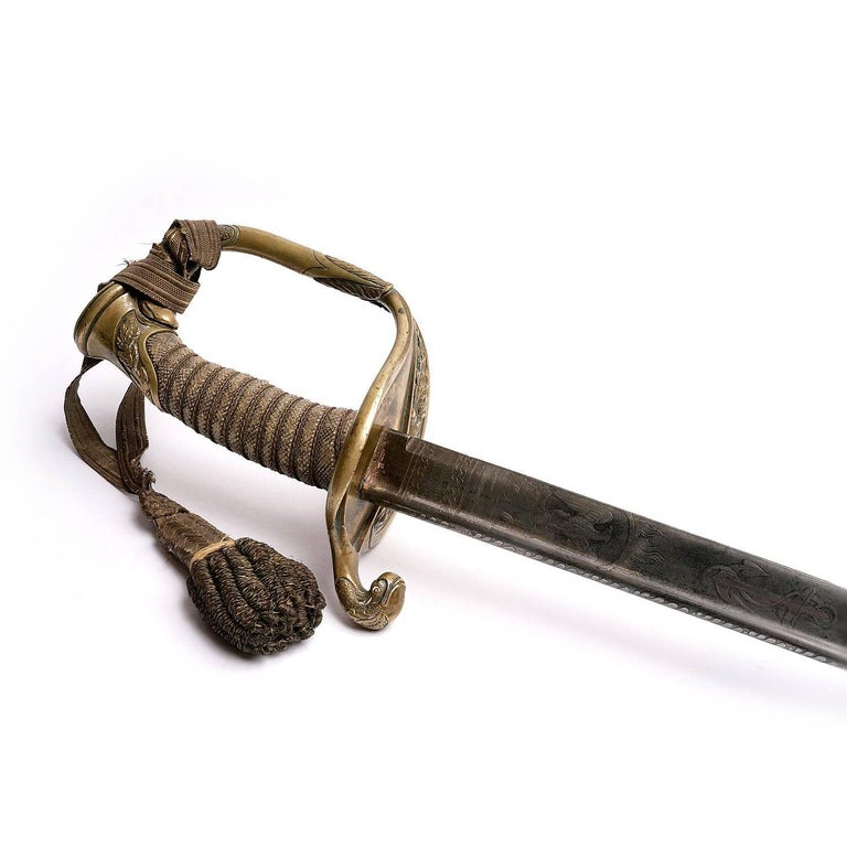 Bronze Tiffany US Officers Naval Sword New York, 1862 For Sale