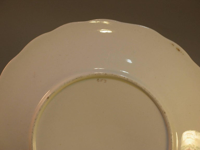 English Scenic Porcelain Dessert Service, Mid-19th Century For Sale 2