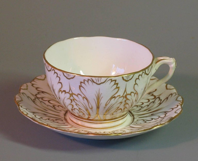 Hand-Crafted English Porcelain Part Tea Service, circa 1820-1830 For Sale