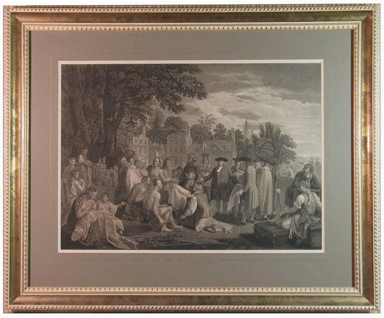 English William Penn's Treaty, Pennsylvania, Engraving, London, 1775 For Sale