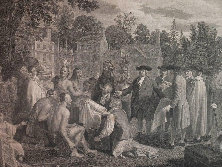 William Penn's Treaty, Pennsylvania, Engraving, London, 1775 For Sale 1