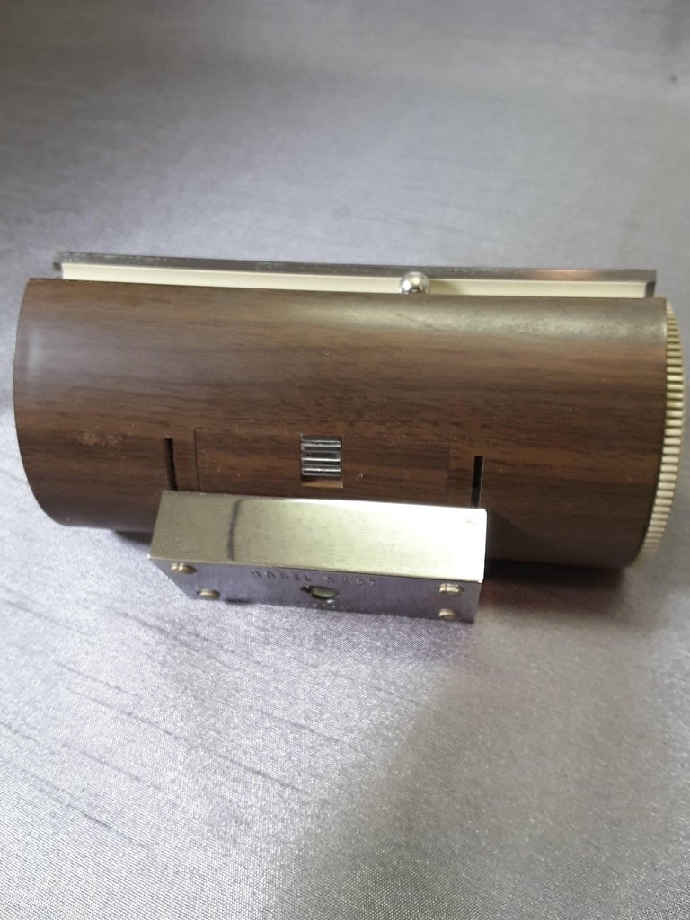 20th Century Mid-Century Modern 1967 Wood Grain Finish Tubular Solid State Am Radio For Sale