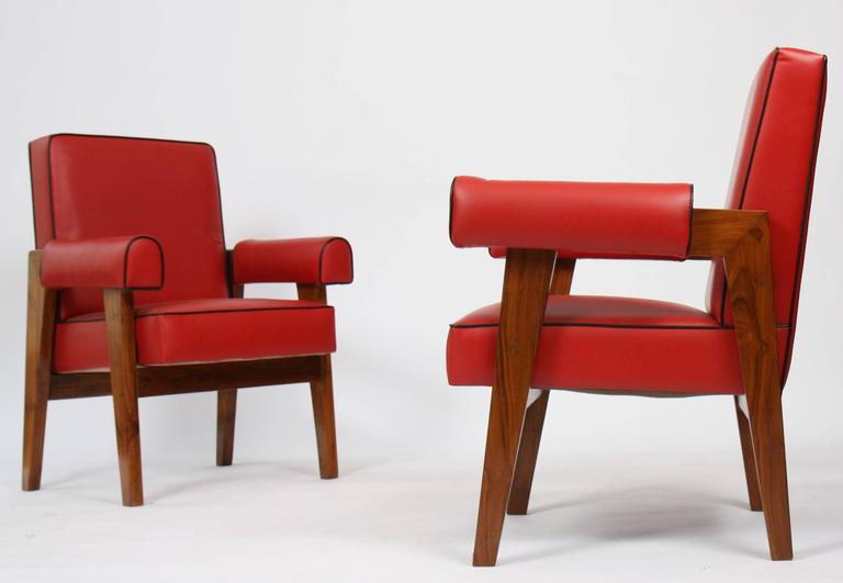 Le Corbusier (1887-1965) - Pierre Jeanneret (1896-1967) Furniture for Living Roo In Good Condition For Sale In Altwies, LU