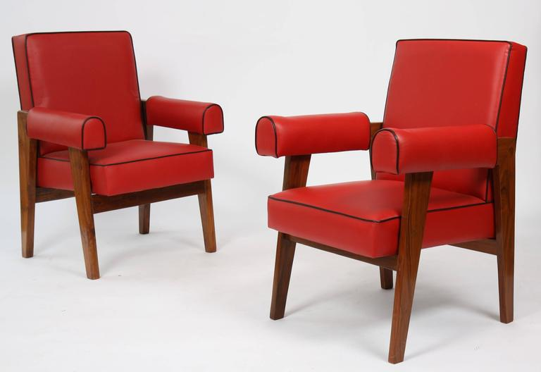 Mid-20th Century Le Corbusier (1887-1965) - Pierre Jeanneret (1896-1967) Furniture for Living Roo For Sale