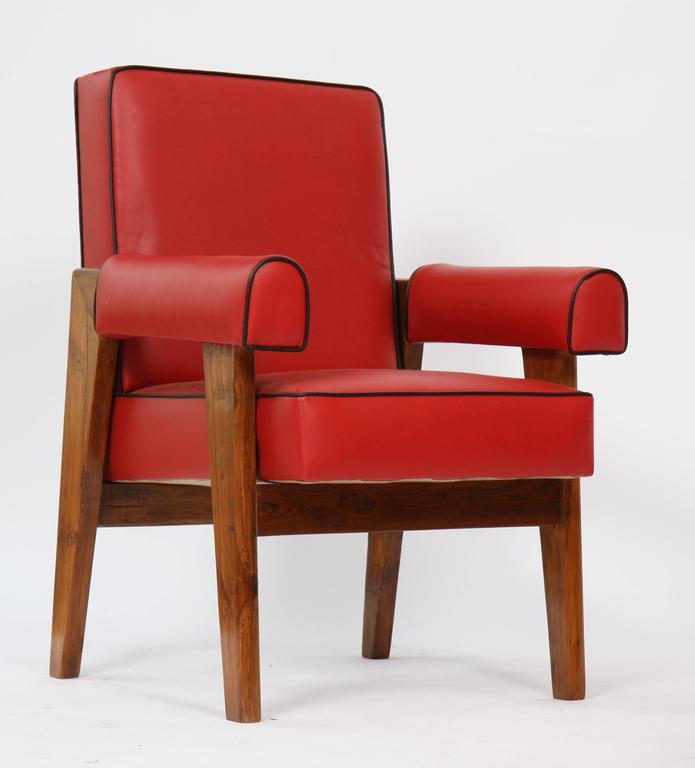 Teak Le Corbusier (1887-1965) - Pierre Jeanneret (1896-1967) Furniture for Living Roo For Sale