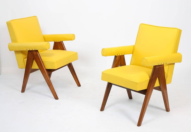 Indian Pierre Jeanneret Set of Two