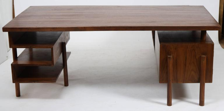 Pierre Jeanneret Rare and Exceptional Administrative Office Desk 2