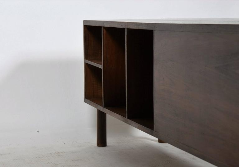 Mid-20th Century Pierre Jeanneret Rare and Exceptional Administrative Office Desk For Sale