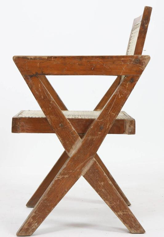 Indian Exceptional Chair by Pierre Jeanneret For Sale