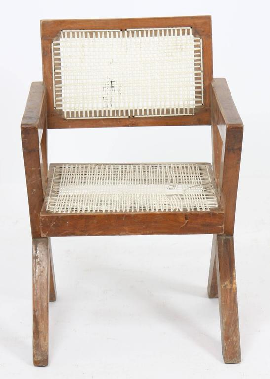 Mid-20th Century Exceptional Chair by Pierre Jeanneret For Sale