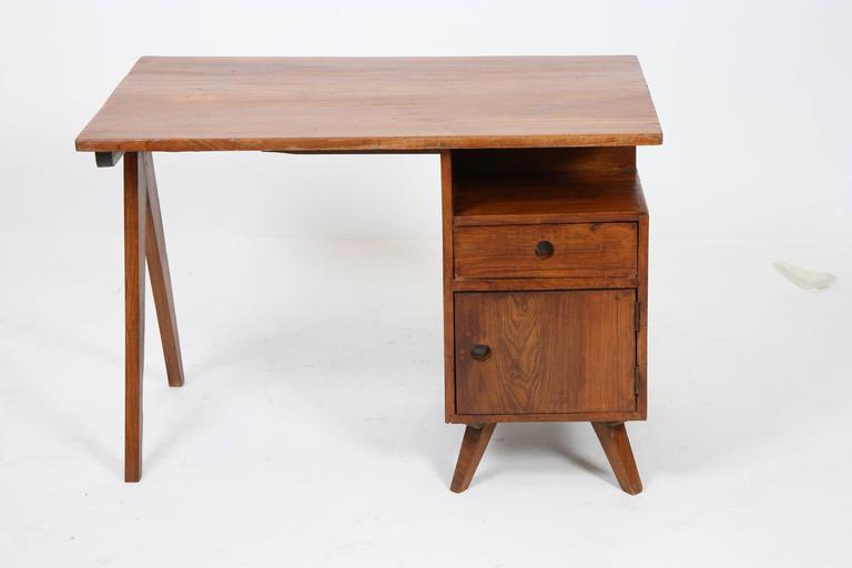 Indian Pierre Jeanneret Administrative Desk For Sale