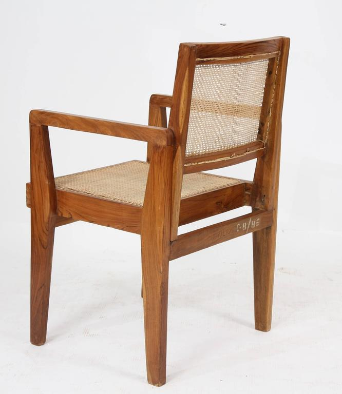 Mid-20th Century Pierre Jeanneret Set of Four Chairs