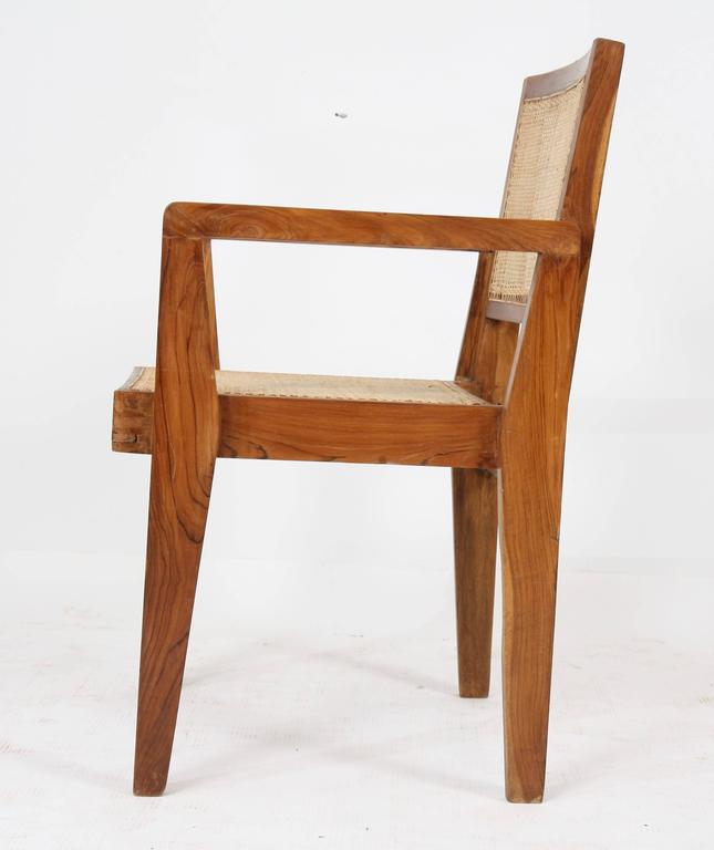 Teak Pierre Jeanneret Set of Four Chairs