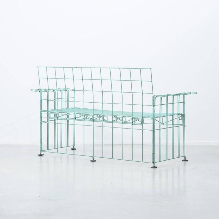Italian Bruno Munari Abitacalo Wire Sofa, Robots, Italy, 1972