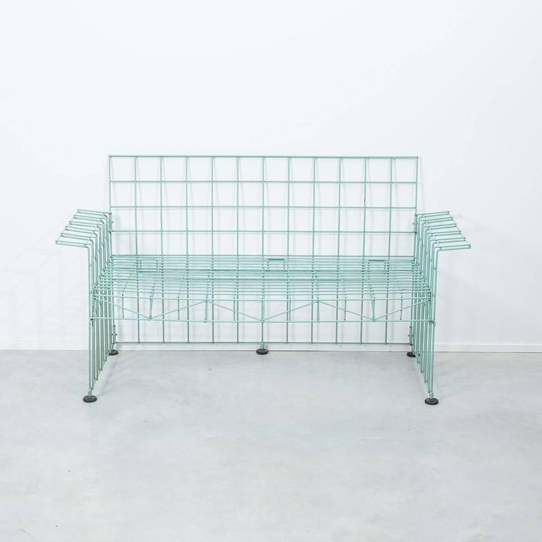 Mid-Century Modern Bruno Munari Abitacalo Wire Sofa, Robots, Italy, 1972