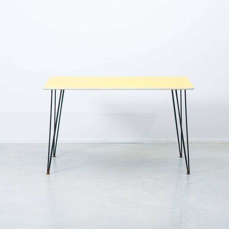 Paul Bridston Table With Hairpin Legs Kandya, UK, 1950 3