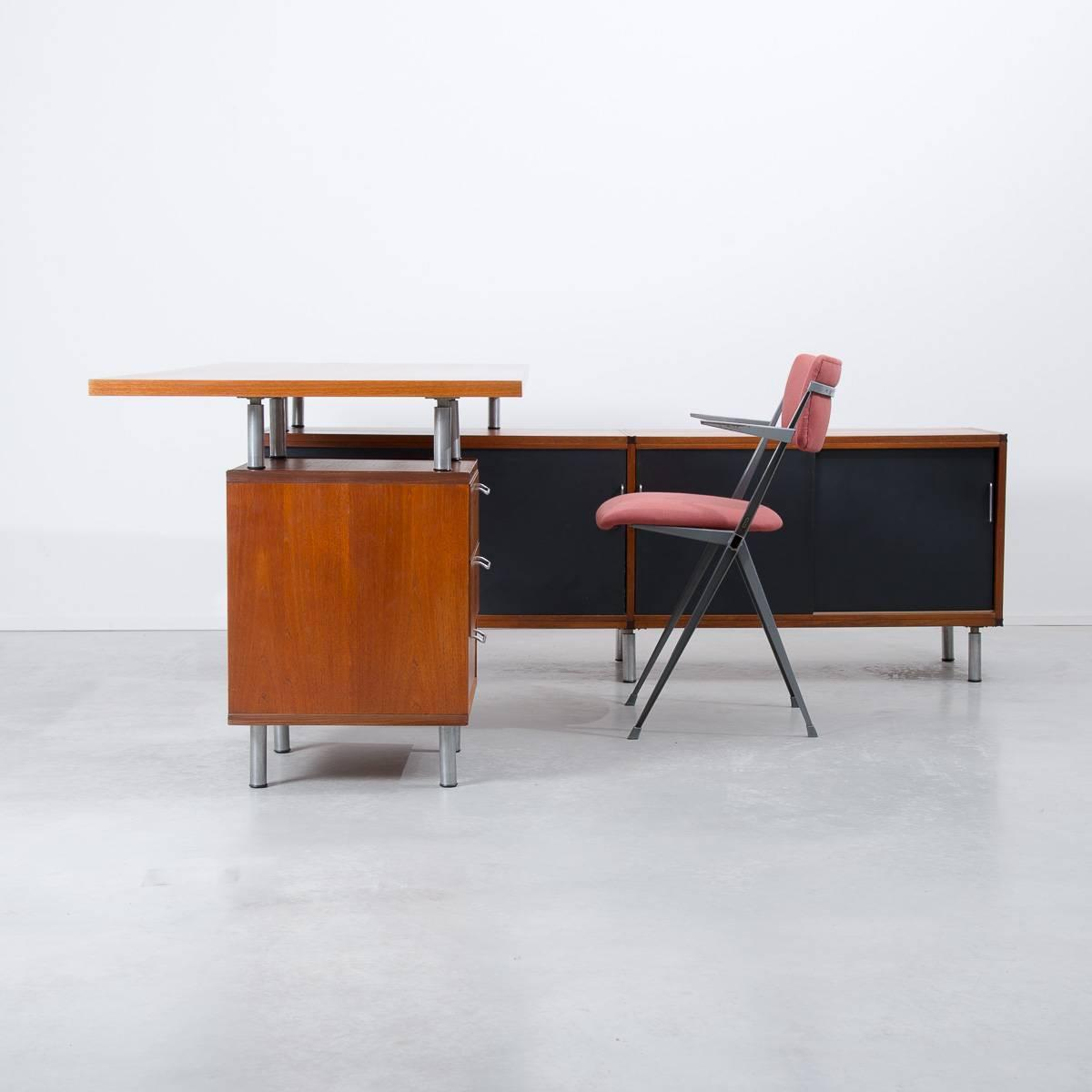1950s Cees Braakman Pastoe L Shaped Executive Desk Netherlands For . Full resolution‎  picture, nominally Width 1200 Height 1200 pixels, picture with #AE4F0D.
