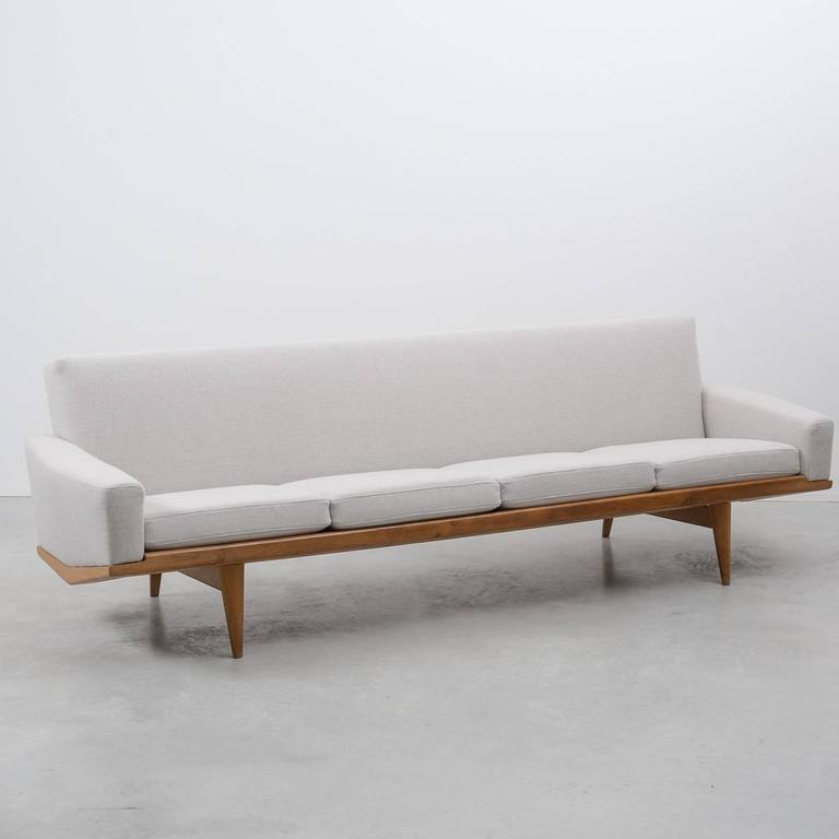 hw klein 221 four seat danish sofa for n a j rgensens denmark 1960 at 1stdibs