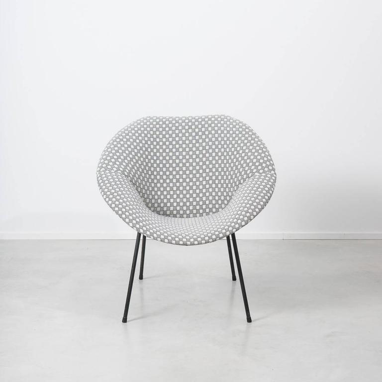 Good Sculpted Modernist Bucket Chair From The 1950s, Attributed To Meurop.  Designer Unknown, But