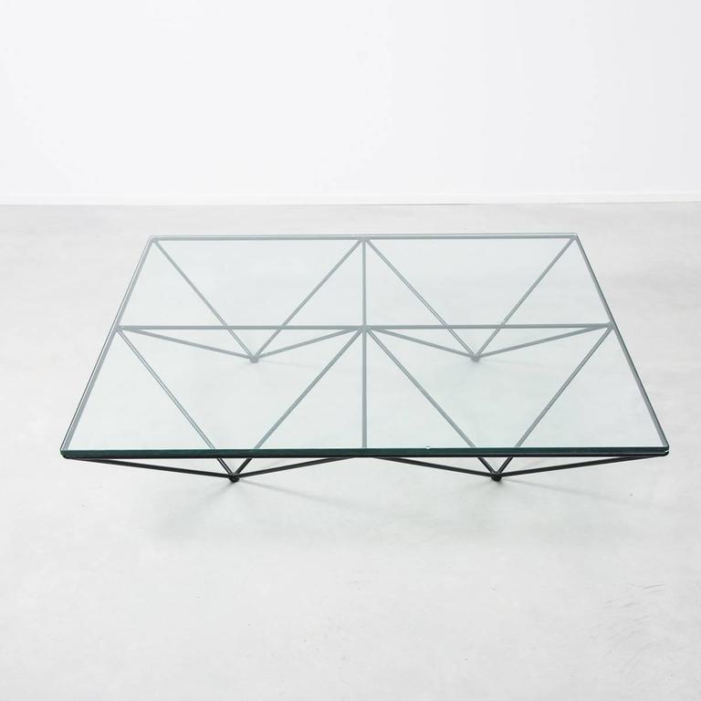 Mid Century Modern Paolo Piva For B Italia Alanda Modernist Geometric Glass Coffee Table