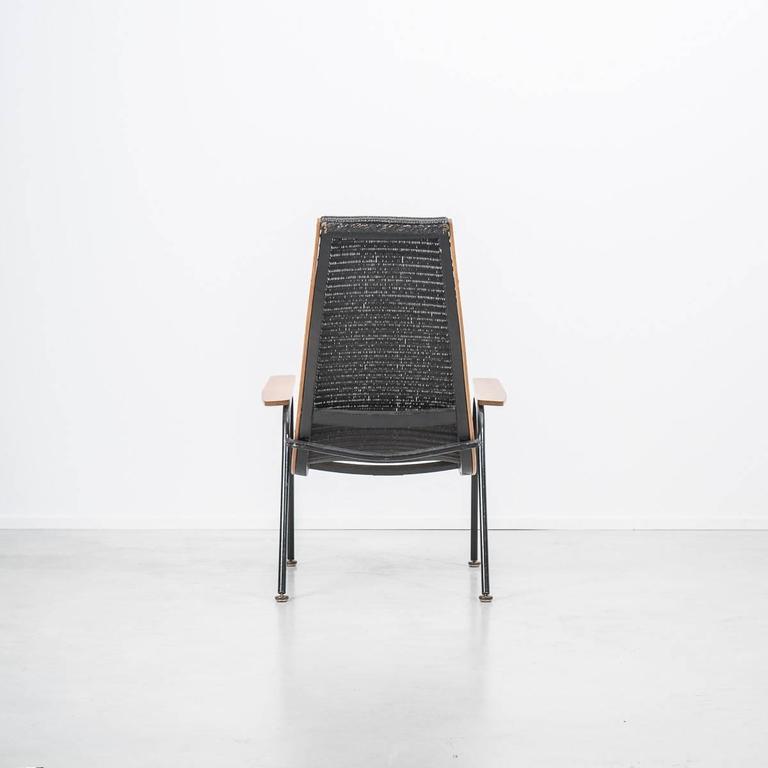 rare modernist lloyd loom armchair lusty uk 1950s for sale at 1stdibs. Black Bedroom Furniture Sets. Home Design Ideas