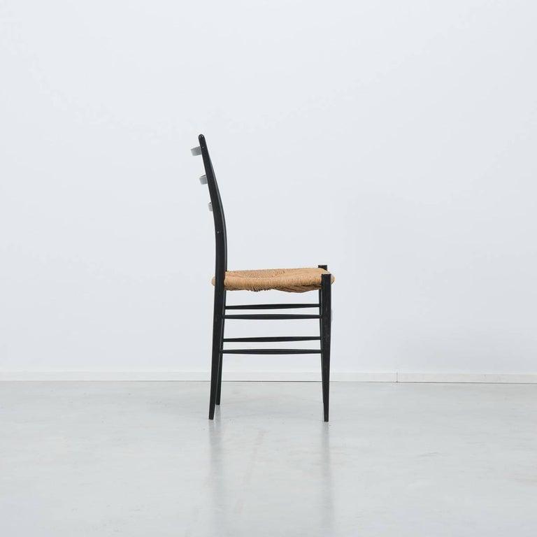 Italian Set of 4 Chiavari Spinetto Dinning Chairs, Chiavari, Italy, 1950s For Sale