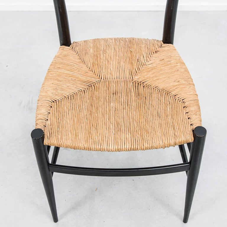 Mid-20th Century Set of 4 Chiavari Spinetto Dinning Chairs, Chiavari, Italy, 1950s For Sale