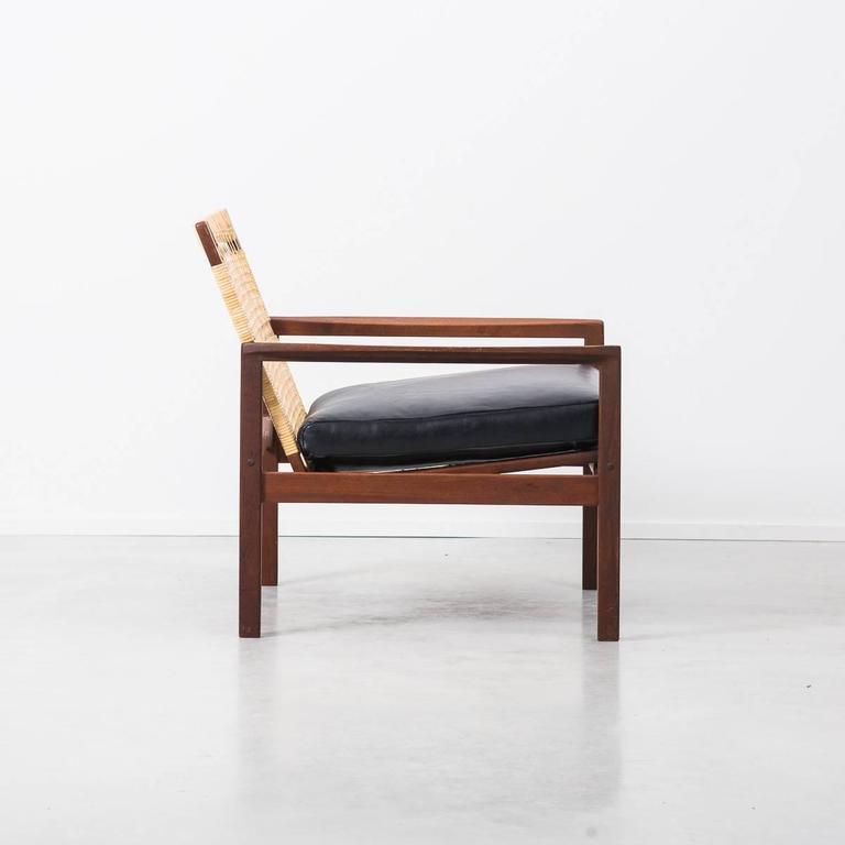 1950s Danish Hans Olsen Rattan Backed 519 Armchair At 1stdibs