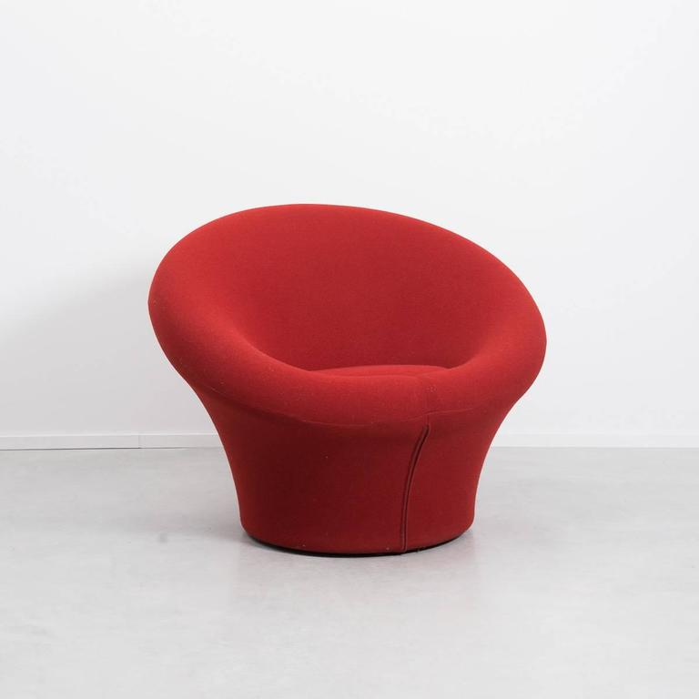 Red Pierre Paulin Mushroom Chair Designed For Artifort In 1960 Netherlands After A Brief
