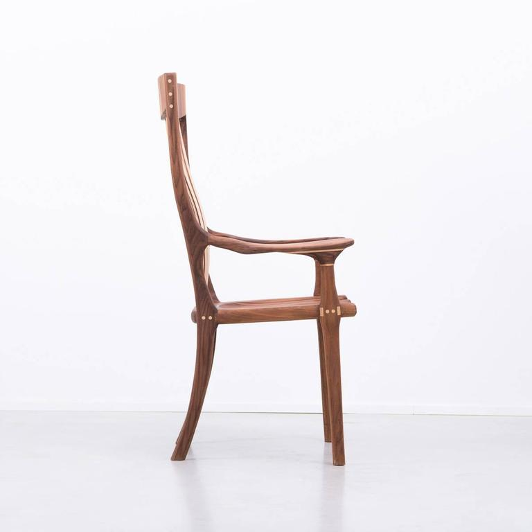 Post-Modern Walnut and Maple Chair in Manner of Sam Maloof For Sale