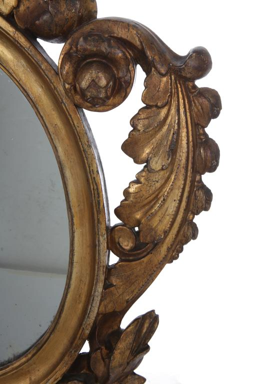 Late 18th Century Pair of Italian Giltwood Mirrors, circa 1790 For Sale