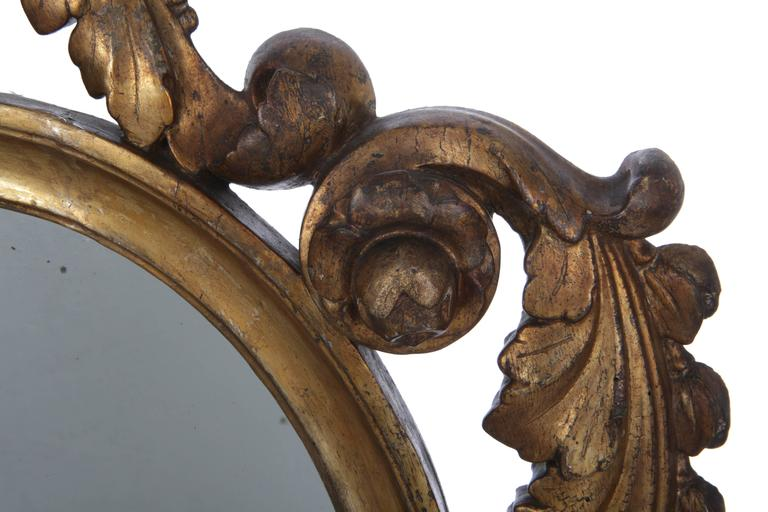 Pair of Italian Giltwood Mirrors, circa 1790 For Sale 2