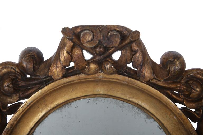 Pair of Italian Giltwood Mirrors, circa 1790 For Sale 1