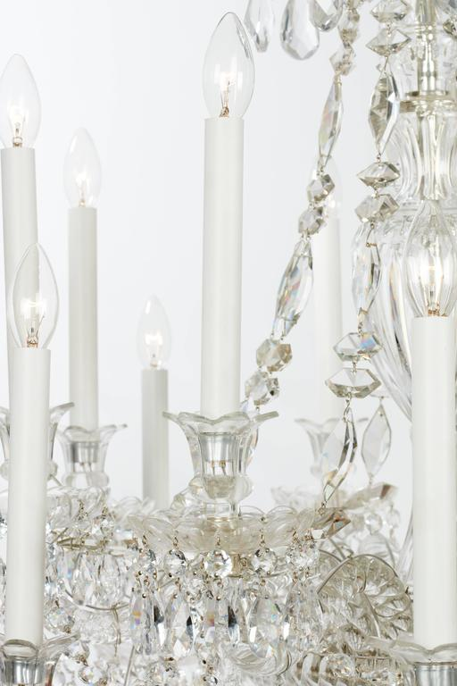 Unique pair of 19th century cut glass english chandelier for Unique chandeliers for sale