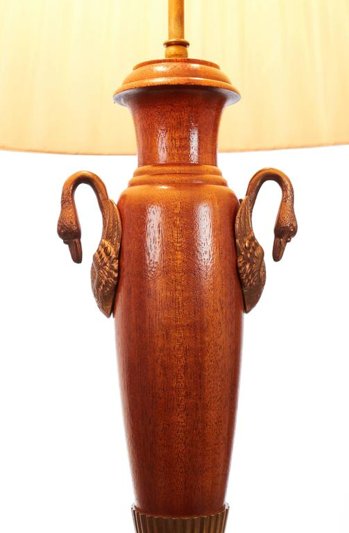 Pair of English Classical Greek Empire Revival Table Lamps In Excellent Condition For Sale In London, GB