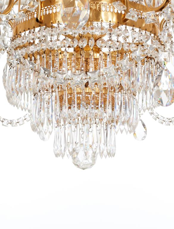 French Gilded Waterfall Chandelier Circa 1910 For Sale At