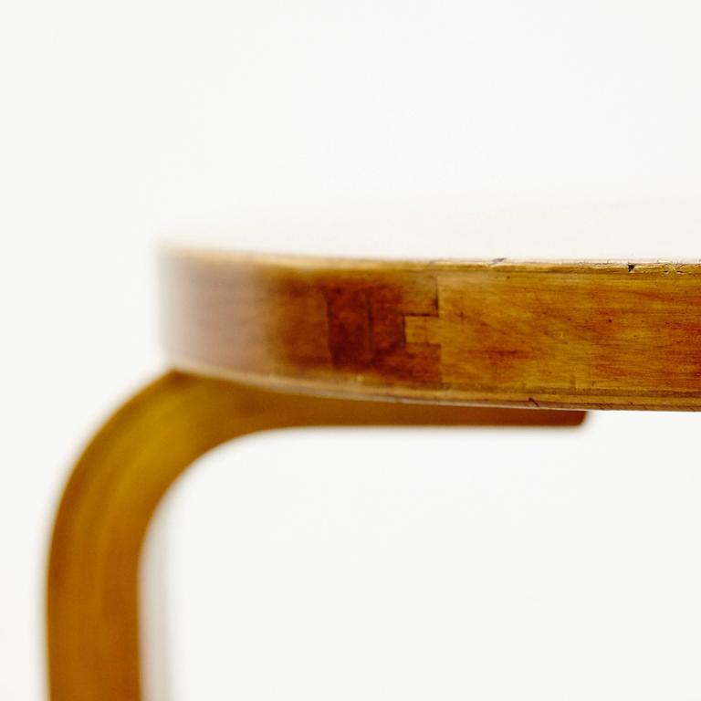 Mid-20th Century Alvar Aalto First Edition Wood Stool for Finmar, circa 1930 For Sale