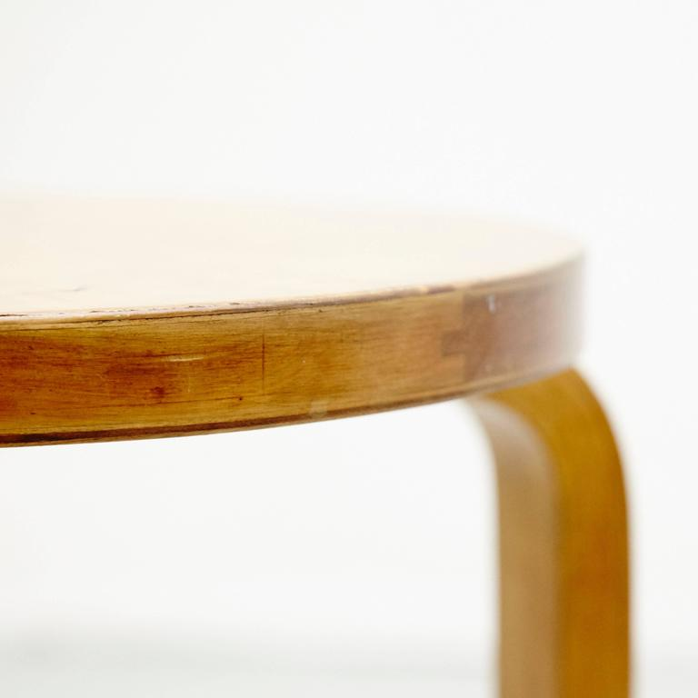 Alvar Aalto First Edition Wood Stool for Finmar, circa 1930 For Sale 1