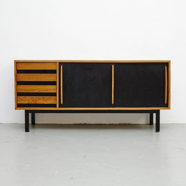 Sideboard designed by Charlotte Perriand, circa 1950.