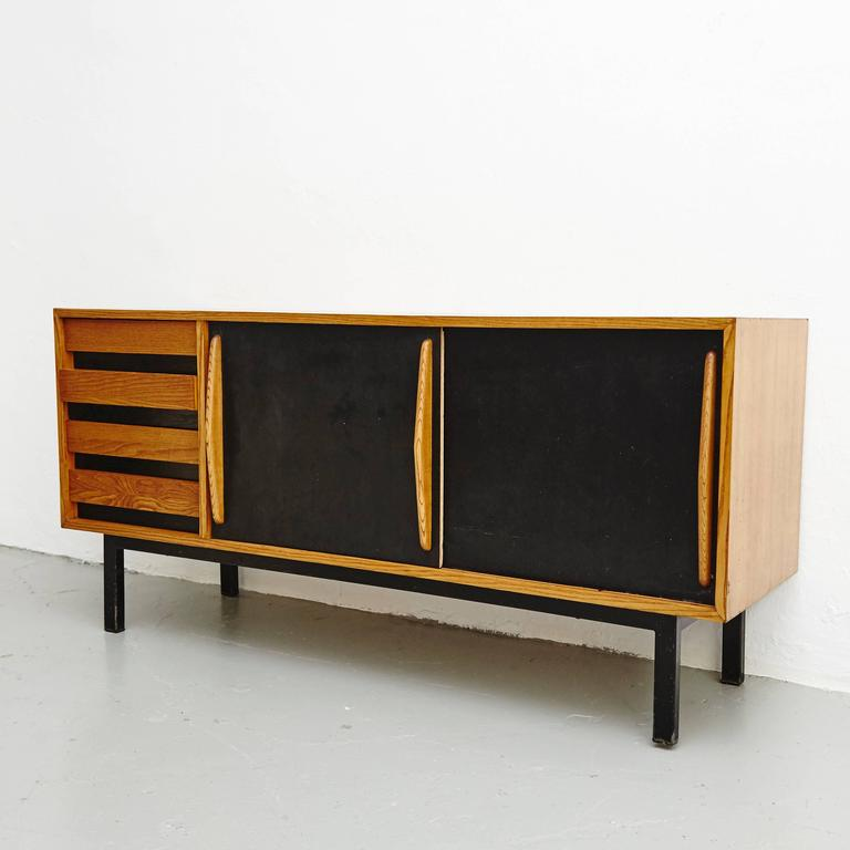 Mid-Century Modern Charlotte Perriand Cansado Sideboard, circa 1950 For Sale