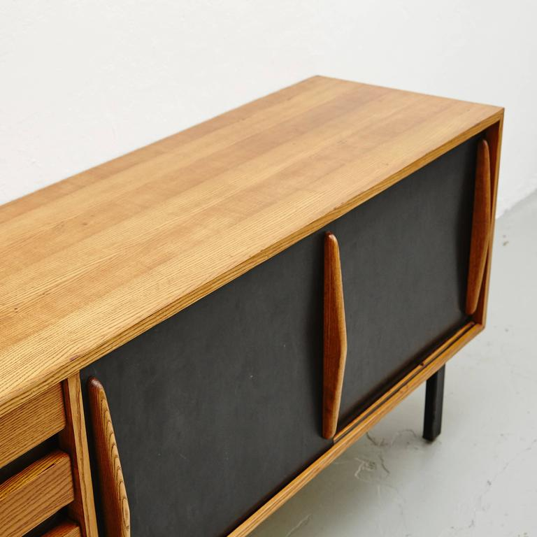 Charlotte Perriand Cansado Sideboard, circa 1950 In Good Condition For Sale In Barcelona, Barcelona
