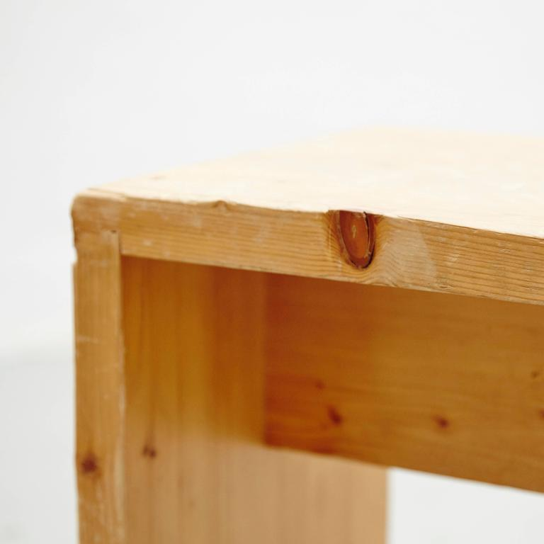 Mid-20th Century Charlotte Perriand Stool for Les Arcs For Sale