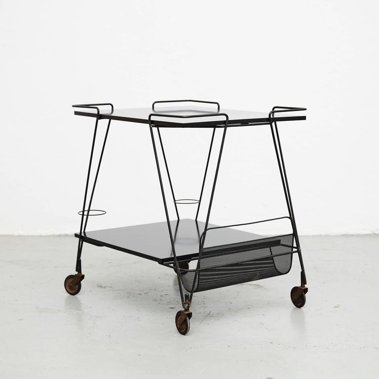 Mathieu Mategot Trolley, circa 1950 In Good Condition For Sale In Barcelona, Barcelona