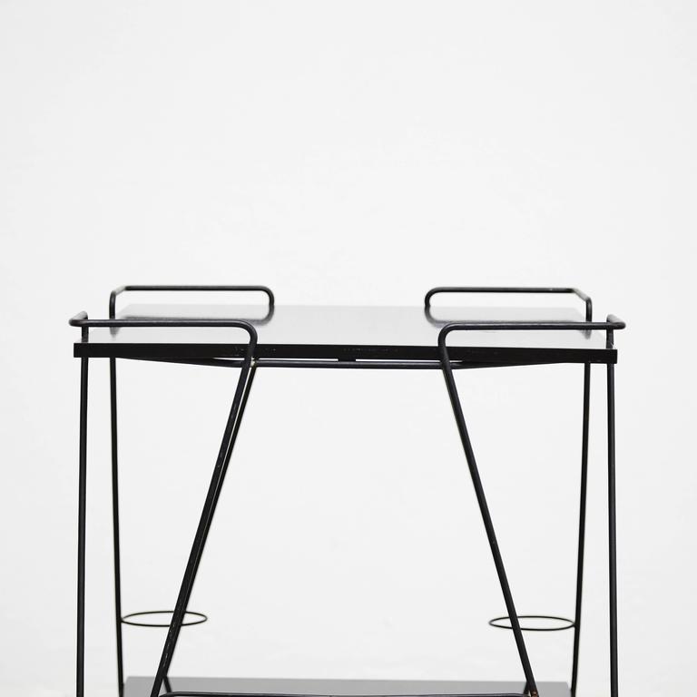 Wood Mathieu Mategot Trolley, circa 1950 For Sale