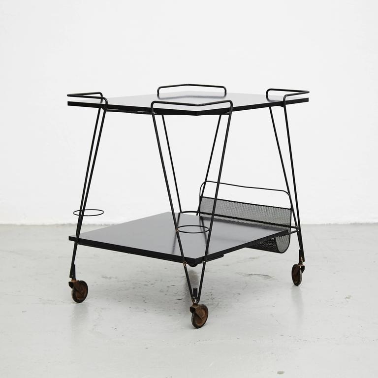 Mid-Century Modern Mathieu Mategot Trolley, circa 1950 For Sale