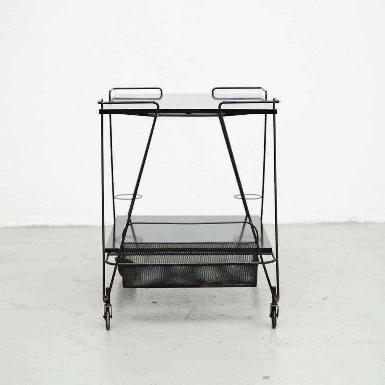 Mid-20th Century Mathieu Mategot Trolley, circa 1950 For Sale